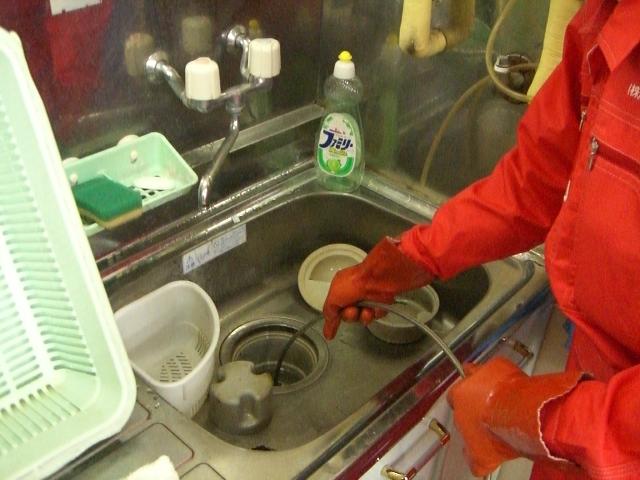 上越市内 キッチンの排水口のつまりに対応してきました!